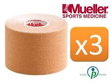 Mueller kinesiologia Sports K nastro 5 cm X 5m Beige TRIPLE PACK fascia muscolare dolori