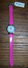 KIM ROGERS Quartz Ladies' Watch - Analog - w/Rhinestones - HOT PINK - NWT!