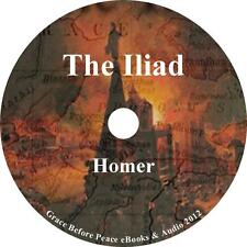 The Iliad, Classic Poem Audiobook by Homer in English on 1 MP3 CD Free Shipping