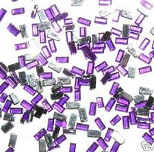 100 Bijou Ongle Strass LINGOT Violet Amethyste Nail Art