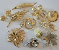 Vintage Signed All Crown Trifari, 3 Alfred Philippe Brooch Lot