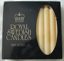 "Vintage Royal Swedish Candles by Elfstroms Candle Co. Box of 20 – 4.33"" tall NOS"