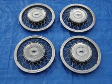 """USED SET 1955 CHEVROLET ACCESSORY WIRE HUBCAPS NOMAD BELAIR CORVETTE 1954 """"RARE"""""""