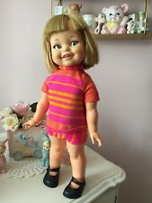 More details for vintage 1966 ideal toys giggles doll retro kitsch collectors item