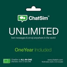 ChatSim Unlimited Global SIM Card To Chat With WhatsApp Telegram And Other NEW