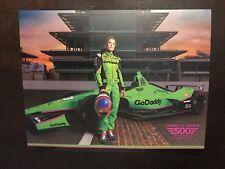 Danica Patrick 2018 Indy Car Indianapolis 500 Promo hero Card Go Daddy