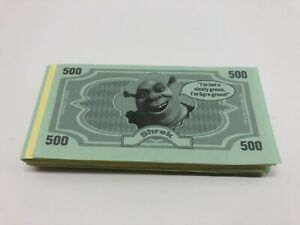 Shrek Operation Board Game Play Money Replacement Parts