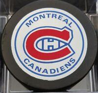 1980s VINTAGE MONTREAL CANADIENS  NHL VICEROY SLUG CANADA HOCKEY PUCK +HOLE B.S.