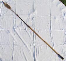 "Vintage Burma Myanmar Fighting Long Head Spear W Cover Reed & Leather Handle 64"""