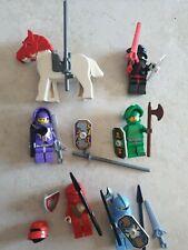 Lot de Figurine lego chevalier knights kingdom rouge bleu ....cheval armes