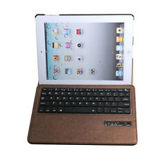 Rotating leather Case Cover Removable Bluetooth Keyboard For Ipad 2nd 3rd 4th