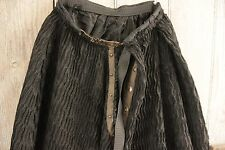 Antique petticoat or long skirt Victorian black crepe lined with scallop French