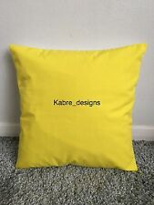 """NEW 20"""" PLAIN YELLOW CUSHION COVER PILLOW BED SOFA MORE COLOURS SIZES AVAILABLE"""