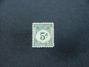 Gilbert & Ellice 1940 5d grey-green Postage Due SGD5 UM/MNH