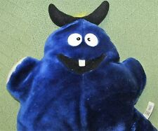Official QUALITY PRODUCT Blue Monster Plush Stuffed Animal RARE Toy Horns Tooth