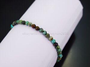Handmade 4mm Mixed Natural Gemstone Round Beads Stretchy Bracelet Reiki Chakra
