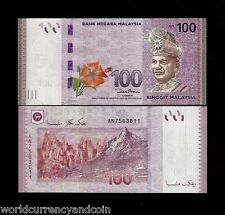 MALAYSIA 100 RINGGIT NEW 2012 KING DEER UNC FLOWER CURRENCY MONEY BILL BANK NOTE