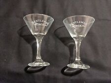 Set of 2 Jack Daniels Gentleman Jack Martini Glasses - No box - Great Condition!