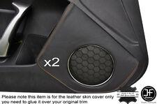 ORANGE STICH 2X DOOR SPEAKER TRIM LEATHER COVER FOR TOYOTA GT86 SUBARU BRZ 12-16