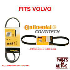 OEM CONTI Drive Belts A/C to Crankshaft and A/C to Alternator Fits Volvo