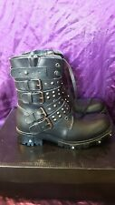 EMP Gothicana Solstice Biker Boots stiefel leather shoes EU39 UK6 Gothic boots