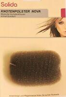 """Knotenpolster """"NOVA"""" Haar-Polster Duttkissen Bun Pad ca 7,5 x 6,5 cm eckig braun"""