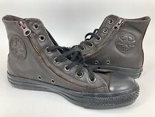 a1326feb1b53 Converse CT Double Zip HI Mole Brown Leather Chuck Taylor Womens 7 Shoes  140002C