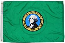 Washington State Flag 2x3 Annin 145750 NYL-GLO High Quality Made in USA Priority