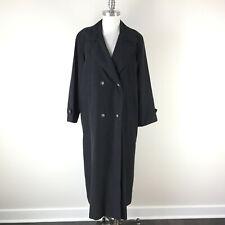 Vintage Cinzia Rocca 10 Black Long Trench Coat Rain Jacket Excellent Boho