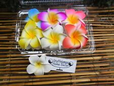Frangipani Hair Claw clips x 6 pcs (9cm diameter) double flowers