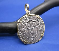 14K Yellow Gold Bezel Atocha Replica Shipwreck Coin FL Key West Pirate Pendant