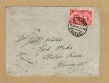 Rhodesia 1913 cover to Harrogate Yorkshire