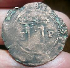(1516-1556) DOMINICAN REPUBLIC -- 4 MARAVEDIS ---1st Coinage of Hispañola-
