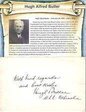 Hugh A Butler Autograph Senator Nebraska Iowa Doane College Quincy Railroad #2