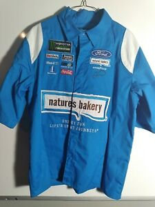 JH DESIGN MENS EMBROIDERED NATURE'S BAKERY PIT/CREW SHIRT/SIZE S
