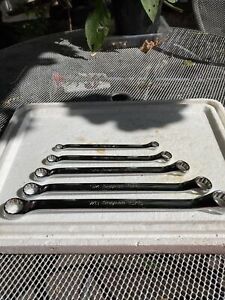 Snap On Tools 5pc Imperial Ring Spanner Set
