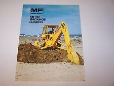 MASSEY FERGUSON MF 70 BACKHOE LOADER TRACTOR ORIGINAL COLOR SALES BROCHURE