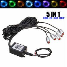 RGB 5 LED Car Door Dash Ambient Light 6m Neon Strip Bluetooth Phone APP Control