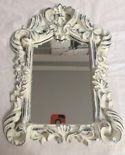 ~LOVELY SCROLL FRAMED WALL MIRROR COTTAGE CHIC     bYb12