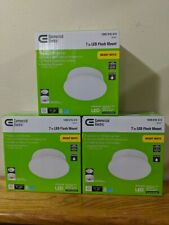 Commercial Electric 7in LED Spin Light Flush Mount Ceiling 3 Pack🔥🔥🔥