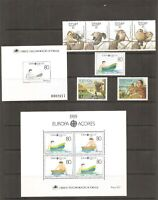Portugal Azores SC #  380a Wildlife , 381-82 Europa 383-384 .Year Set 1989 MNH