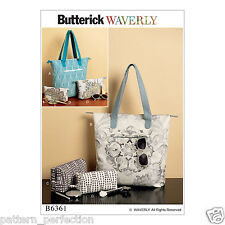 Butterick Sewing Pattern B6361os Tote Bags and Cosmetic Pouches