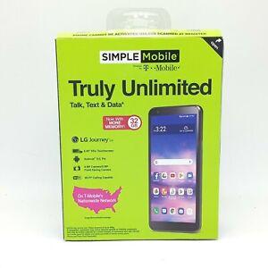 Simple Mobile LG Journey 4G LTE Prepaid Smartphone 16 GB Black Locked Sealed