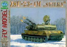Card Model Kit – ZSU-23-4M 'Shilka' Soviet AA Vehicle