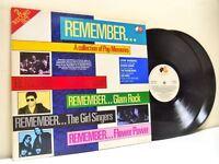 REMEMBER: A COLLECTION OF POP MEMORIES various DOUBLE LP EX/VG+ CR 070, uk vinyl