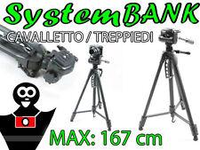 CAVALLETTO TREPPIEDI 167cm 3D per NIKON D610 D750 D810 D3200 D5200 D5100 D200 DF