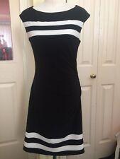 LAUREN by Ralph Lauren - Gorgeous Women black stretchy Dress - Size 8  RRP £260