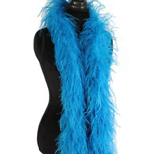 Turquoise 3ply Ostrich Feather Boa Scarf Prom Halloween Costumes Dance Decor
