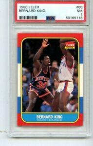 1986 FLEER #60 BERNARD KING KNICKS HOF PSA 7