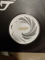 2021 Tuvalu James Bond 007 1 oz Silver Colorized BU Coin in Card Sealed 2k Made!